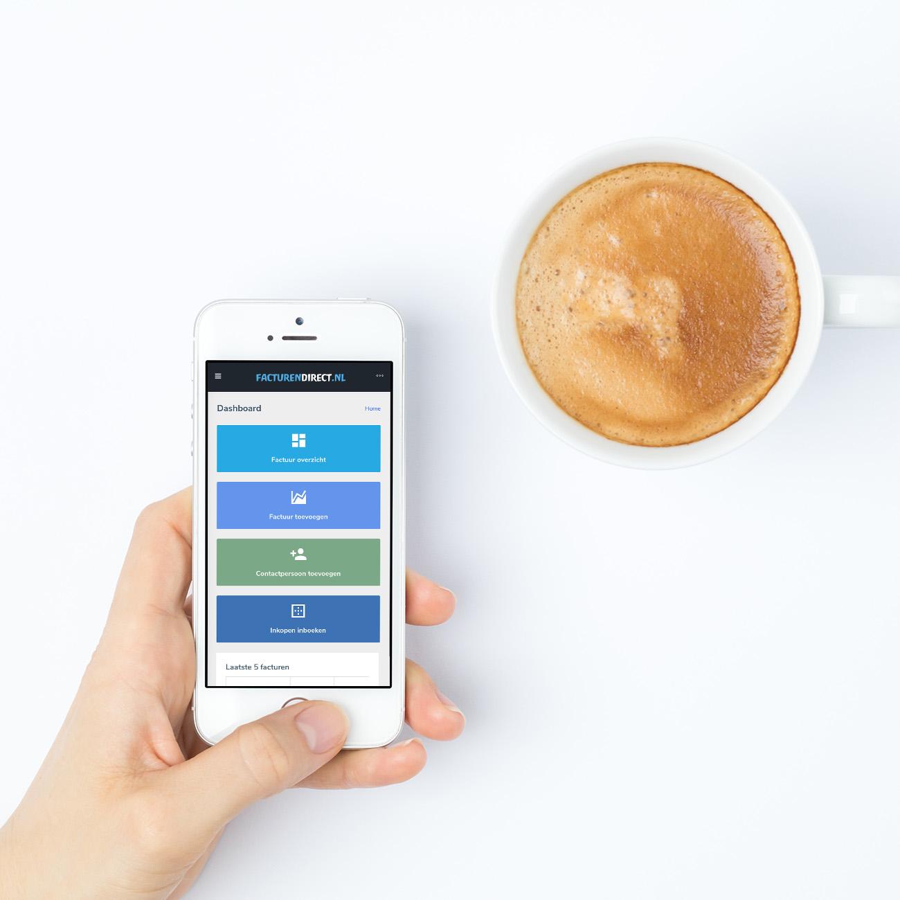 FacturenDirect beschikbaar op mobiel